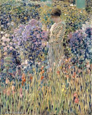Lady in a Garden, Frieseke