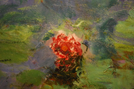 Claude Monet, Nymphéas rouges, (détail) vers 1914-1917, huile sur toile 180cm x 146cm, Fine Arts Museum of San Francisco