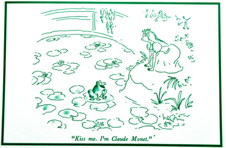 Cartoon de Arnie Levin, Kiss me I'm Claude Monet