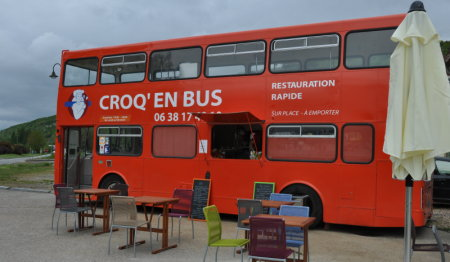 Croq en bus, Giverny