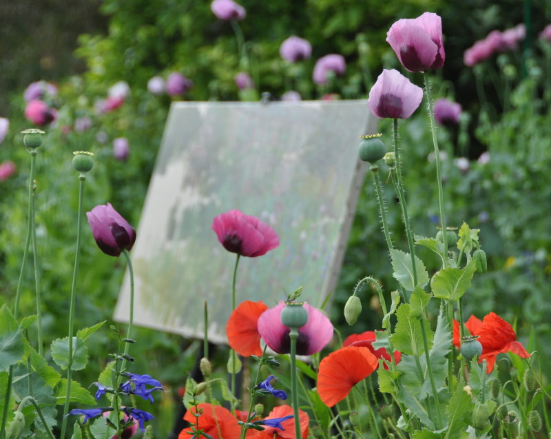 Painting in Giverny