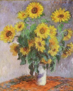 Les FLEURS  dans  L'ART Monet-tournesols