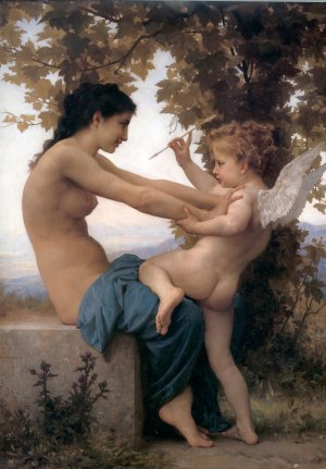 Jeune fille se défendant contre Eros, William Bouguereau, 1880