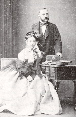 Les parents de Claude Monet vers 1855