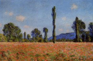 Champ aux coquelicots, Claude Monet, 1890, 61x96.5 cm, Art Institute of Chicago