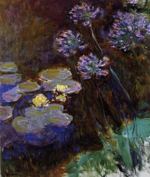 Claude Monet, Nymphéas et agapanthes, 1914-1917, 140x120cm, musée Marmottan, Paris