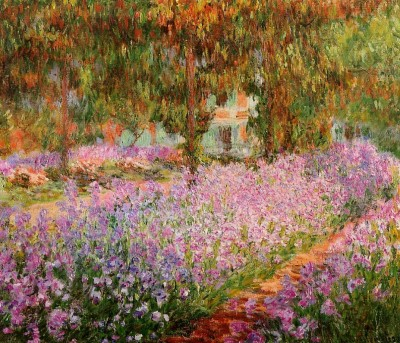 Le jardin de Monet, les iris, Claude Monet, 1900, Paris, muse d'Orsay, huile sur toile 81x 92 cm
