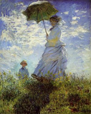 Femme à l'ombrelle, Mme Monet et son fils, Claude Monet, 1875. National Gallery of Art, Washington
