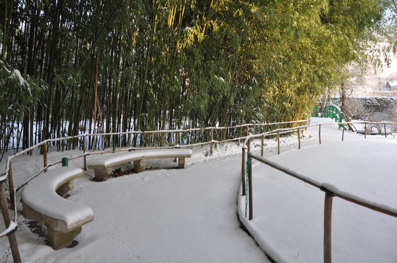 Giverny sous la neige