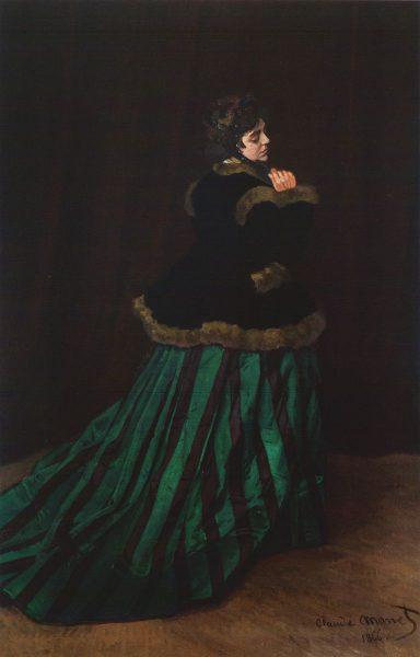 Claude Monet, Camille ou la Femme à la robe verte, 1866