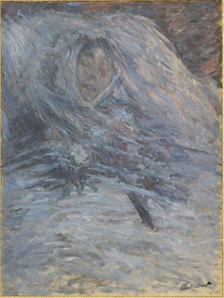 Claude Monet, Camille sur son lit de mort, 1879, musée d'Orsay