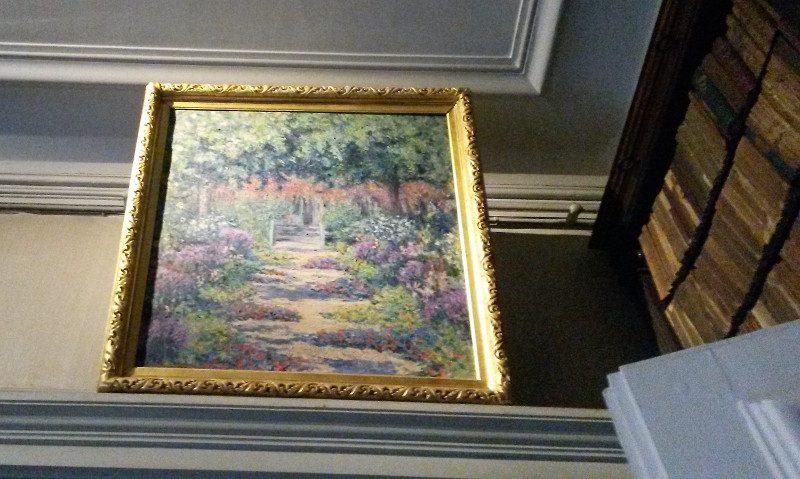 Tableau de Blanche Hoschedé-Monet figurant la grande allée de Giverny