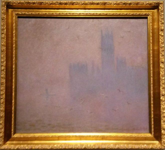Le Parlement, les mouettes, Claude Monet 1901