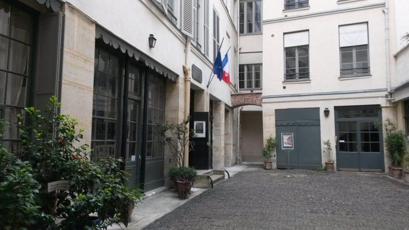 Cour du musée Eugène-Delacroix à Paris