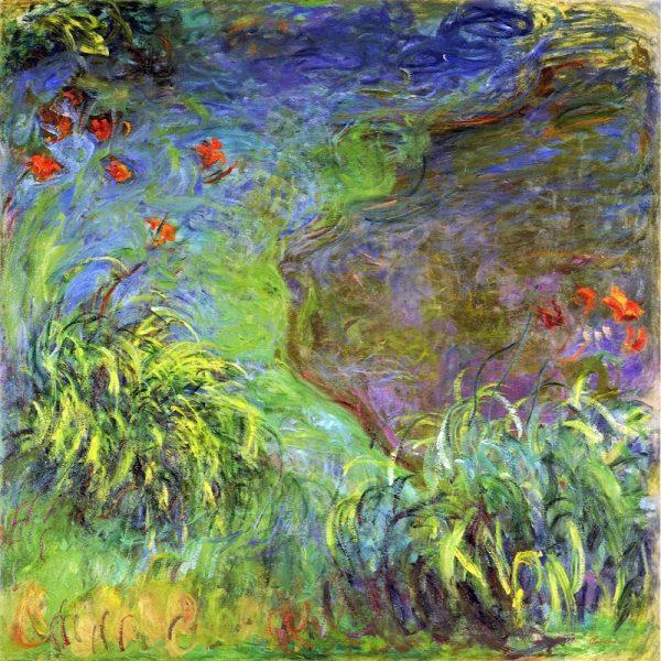 Monet et les hémérocalles