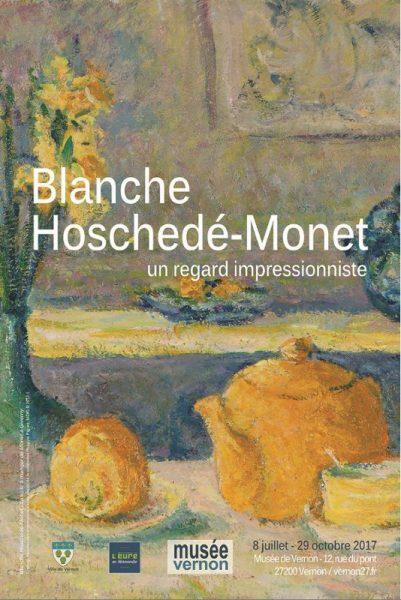 ffiche de l'exposition Blanche Hoschedé Monet à Vernon