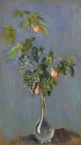 Fleurs d'abutilon dans un vase, Claude Monet