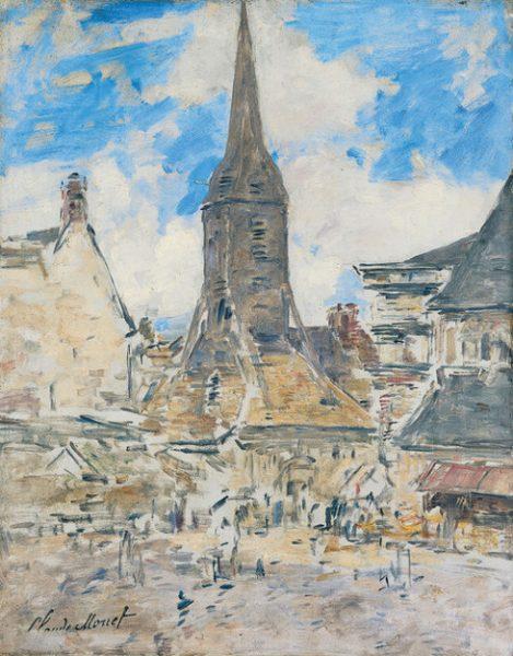Eglise sainte Catherine de Honfleur par Eugène Boudin