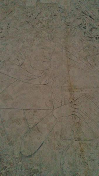 pierre tumulaire d'un architecte de l'abbaye de Saint Ouen à Rouen