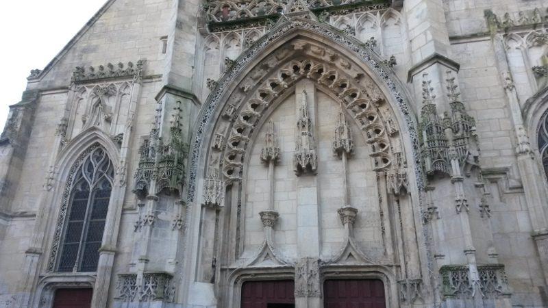 Honfleur Porche de l'église Saint-Léonard