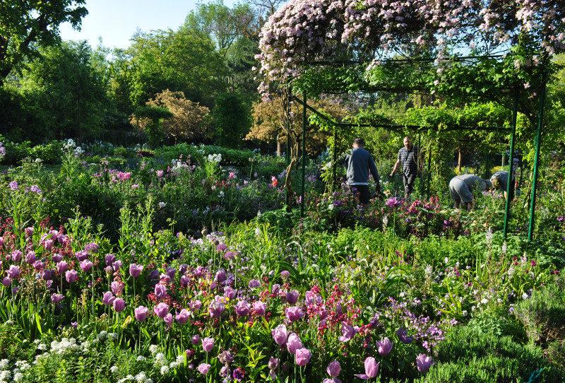 Jardiniers à Giverny