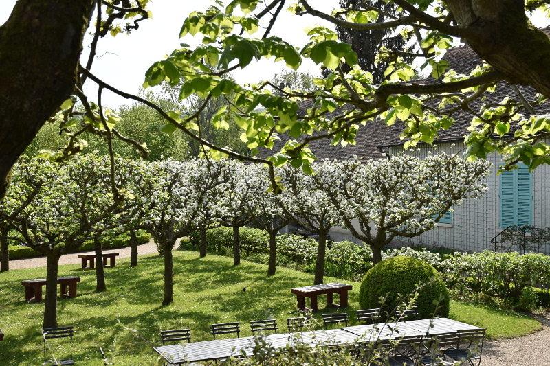 Verger en fleurs dans le jardin du Hameau, Giverny