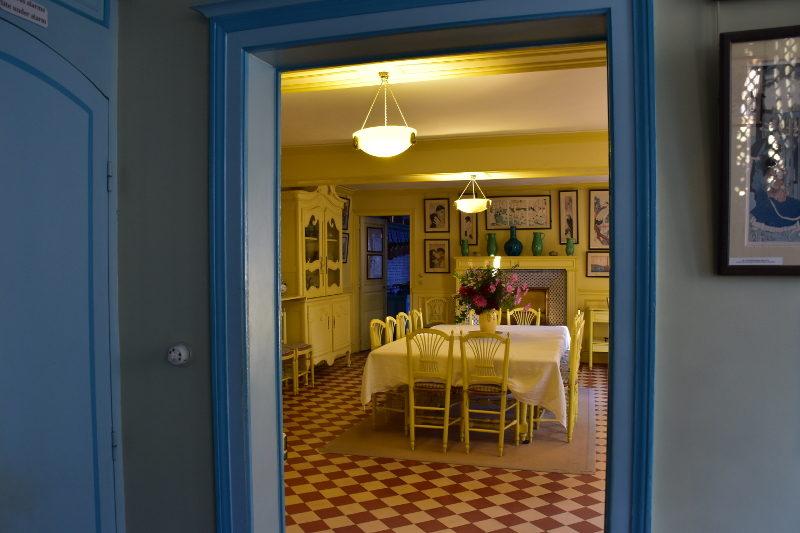 salle-à-manger jaune de Monet à Giverny