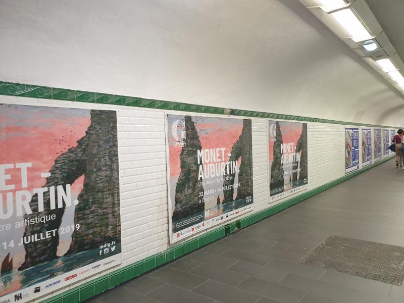 Monet - Auburtin dans le métro
